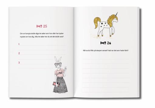 Skrivbok för barn - inlaga
