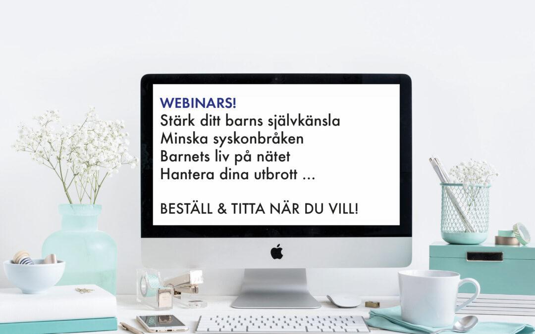 FYRA WEBINARS ATT BESTÄLLA
